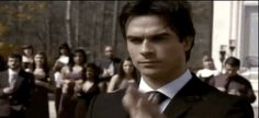 """Damon and Elena's first dance.   17 Most Shocking Moments From The First 99 Episodes Of """"The Vampire Diaries"""""""