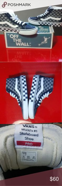 Vans SKi HI POT 50TH Anniversary. Sneakers Worm once. These are limited edition 50TH Anniversary. Checkered style originals Vans Shoes Sneakers
