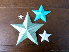 Christmas is not yet, but this tutorial for paper stars has just crossed my path. 3d Paper Star, 3d Star, Paper Stars, Crafts To Do, Crafts For Kids, Paper Crafts, Ramadan Crafts, Star Decorations, Print Templates