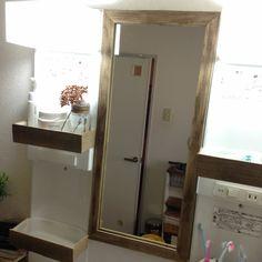 洗面 Mirror, Bathroom, Furniture, Home Decor, Washroom, Decoration Home, Room Decor, Mirrors, Full Bath
