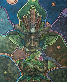 A picture may tell a thousand words, but a visionary artwork can communicate the indescribable. Sitaramaya Sita introduces a colorful collection of artists that can liberate your imagination. Frog Art, Visionary Art, Medicinal Plants, Fractal Art, Sacred Geometry, Occult, Art World, Wicca, Medicine