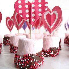 Marshmallow Valentine's Treats #recipe