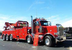 Peterbilt with JerrDan 85 ton - Cool Trucks, Big Trucks, Semi Trucks, Heavy Duty Trucks, Heavy Truck, Custom Big Rigs, Custom Trucks, Car Hauler Trailer, Towing And Recovery