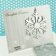 Silver Snowflake Ornament Winter Wedding Favors
