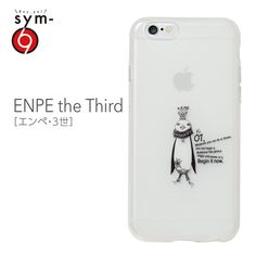 &y【sym】iPhone6 4.7インチ ソフトTPUケース キャラクター IMD光沢印刷 ENPE the Third(エンペ・3世) 乳白クリア