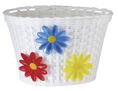 My bike basket that held my piano books while I rode to my lessons each week (Avenir Flower Bike Basket)