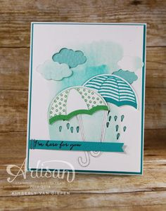 Weather Together Stamp set, Stampin' Up!, Get Well, Umbrella, Showerl - StampinByTheSea.com