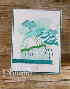 Weather Together Stamp set, Stampin' Up!, Get Well, Umbrella, Showerl - StampinByTheSea.com