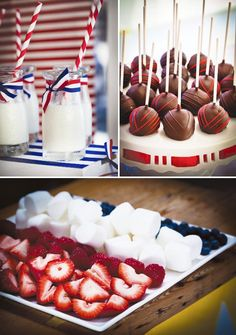 {Patriotic} Red, White & Blue Aussie Party Red, White & Blue Party (Is for Australia's flag but can easily be converted to USA) Patriotic Party, 4th Of July Party, Fourth Of July, Patriotic Crafts, July Crafts, Holiday Treats, Holiday Recipes, American Party, American Flag