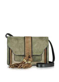 L'Autre+Chose+Color+Block+Suede+Shoulder+Bag+w/Camel+Tassels