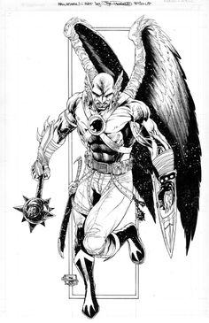 Hawkman black & white! Coloring pages. Thanagarian. Superhero. DC. Hawk Man.
