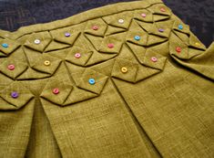 Origami Smocking with Buttons