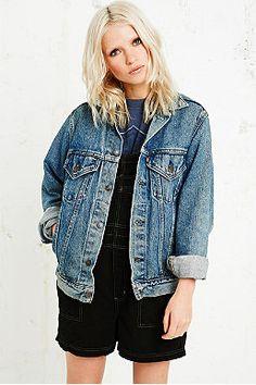 Veste en jean levis femme brut