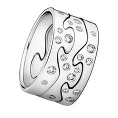 Danish designer Georg Jensen's FUSION ring fits together like a puzzle...