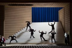 Rigoletto from Opera National de Paris. Production by Claus Guth. Sets by Christian Schmidt. Christian Schmidt, Set Design Theatre, Stage Design, Cool Lighting, Lighting Design, Lighting Ideas, Greek Plays, Scenography Theatre, Rennaissance Art