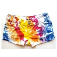 Give new life to white shorts with tie dye