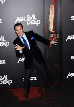 Actor and executive producer Bruce Campbell arrives at the premiere of STARZ's 'Ash Vs Evil Dead' at TCL Chinese Theatre on October 28 2015 in...
