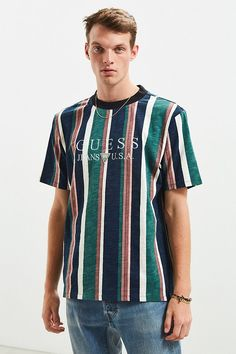 Slide View: 2: GUESS '81 Sayer Stripe Tee