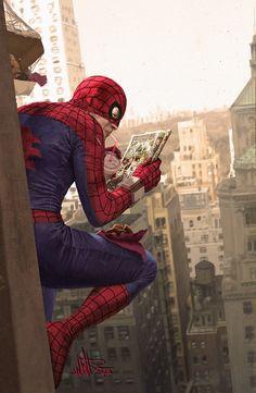 Illustrator Captures a Scene from Spider-Man's Everyday Life You've Never Seen Created byGermany-based illustrator David Müller