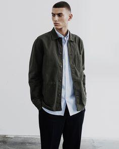 Original Overshirt - Herringbone Formal Looks, Herringbone, Work Wear, Bomber Jacket, Silhouette, Blazer, The Originals, How To Wear