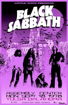 """BLACK SABBATH 1978 Concert Poster Tulsa Oklahoma  $8.00 • 100% Mint unused condition • Well discounted price + we combine shipping • Click on image for awesome view • Poster is 12"""" x 18"""" • Semi-Gloss Finish • Great Music Collectible - superb copy of original • Usually ships within 72 hours or less with tracking. • Satisfaction guaranteed or your money back.Go to: Sportsworldwest.com"""