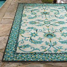 Harlow Mosaic Outdoor Rug traditional doormats