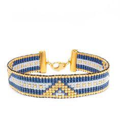 Bead Embroidery Jewelry, Beaded Jewelry Patterns, Beaded Embroidery, Loom Bracelet Patterns, Bead Loom Patterns, Diy Beaded Bracelets, Cuff Bracelets, Bijoux Diy, Loom Beading