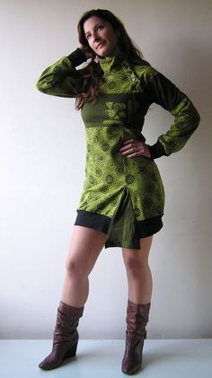 Sale  Cotton Fleece Dress    Winter by manaKAmana on Etsy, $55.00