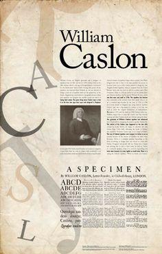 William Caslon by Sally Liu, via Behance