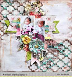 A layout and step-by-step tutorial by Donna Espiritu for Pretty Paper Studio's Embossing Challenge
