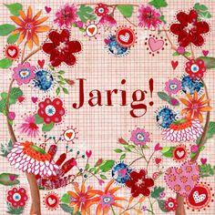 Bloemrijke verjaardagskaart. Design Birthday Card / Verjaardagskaart by Cartita Design www.kaartje2go.nl