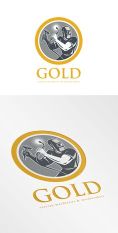 Check out Gold Veteran Machinist and Metalwork by patrimonio on Creative Market