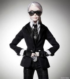 There Is A Karl Lagerfeld Barbie. There Is A Karl Lagerfeld Barbie.