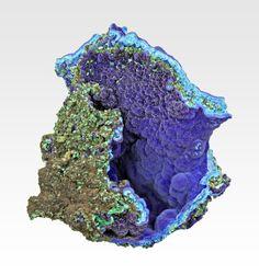 Azurite with Malachite from Arizona