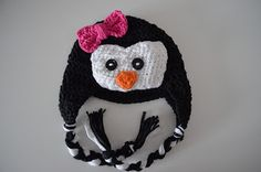 The Stitchin' Mommy: Crochet Penguin Hat FREE Pattern