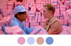 Wes Anderson's Film Scenes Visualized as Color Palettes