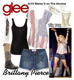 Brittany Pierce (Glee) : Tik Tok by aure26 on Polyvore featuring Sally&Circle, Victoria's Secret PINK, Valentino and glee