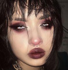 Punk Makeup, Grunge Makeup, Gothic Makeup, Grunge Hair, Hair Makeup, Makeup Eyes, Indie Makeup, Cute Makeup Looks, Makeup Eye Looks