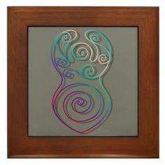 Spiral Goddess Framed Tile. $10.19
