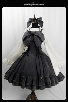 """""""heron denim jsk by witch of the heisei Pre-order ends """" Cosplay Dress, Cosplay Outfits, Edgy Outfits, Cute Casual Outfits, Pretty Outfits, Pretty Dresses, Old Fashion Dresses, Fashion Outfits, Lolita Gothic"""