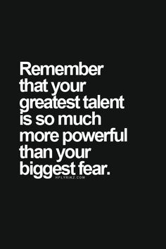 Talent & fear #quotes #inspiration #everivyclothing