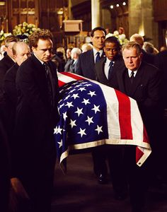 Image result for the west wing season 7 leo's funeral