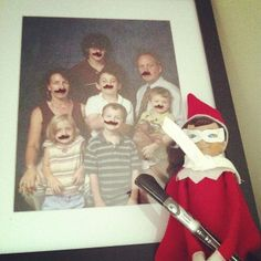 #elftakeover : Drawing mustaches #holiday2013daily by A Life in Balance, via Flickr