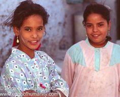Two girls from Egypt.