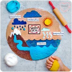 Water Cycle Craft, Water Cycle For Kids, Water Cycle Project, Water Cycle Activities, Science Activities, Activities For Kids, Water Cycle Model, Science Experiments For Preschoolers, Science Projects For Kids