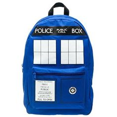 Dr. Who Tardis Backpack - Whyrll