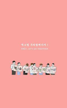 Gonna love our boys forever❤ [logo] Exo Kokobop, Exo Chen, Sehun, Exo Songs, Exo Cartoon, Exo Stickers, Exo Red Velvet, 5 Years With Exo, Kpop Backgrounds