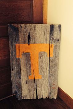 Tennessee wall hanging made from barn wood.
