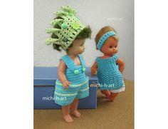 Puppe Schildkröt mit grünen Haaren u. a.