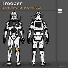 Guerra Dos Clones, Star Wars Commando, Clone Trooper Helmet, Star Wars Drawings, Galactic Republic, Star Wars Models, Star Wars Images, Star Wars Fan Art, Storm Troopers